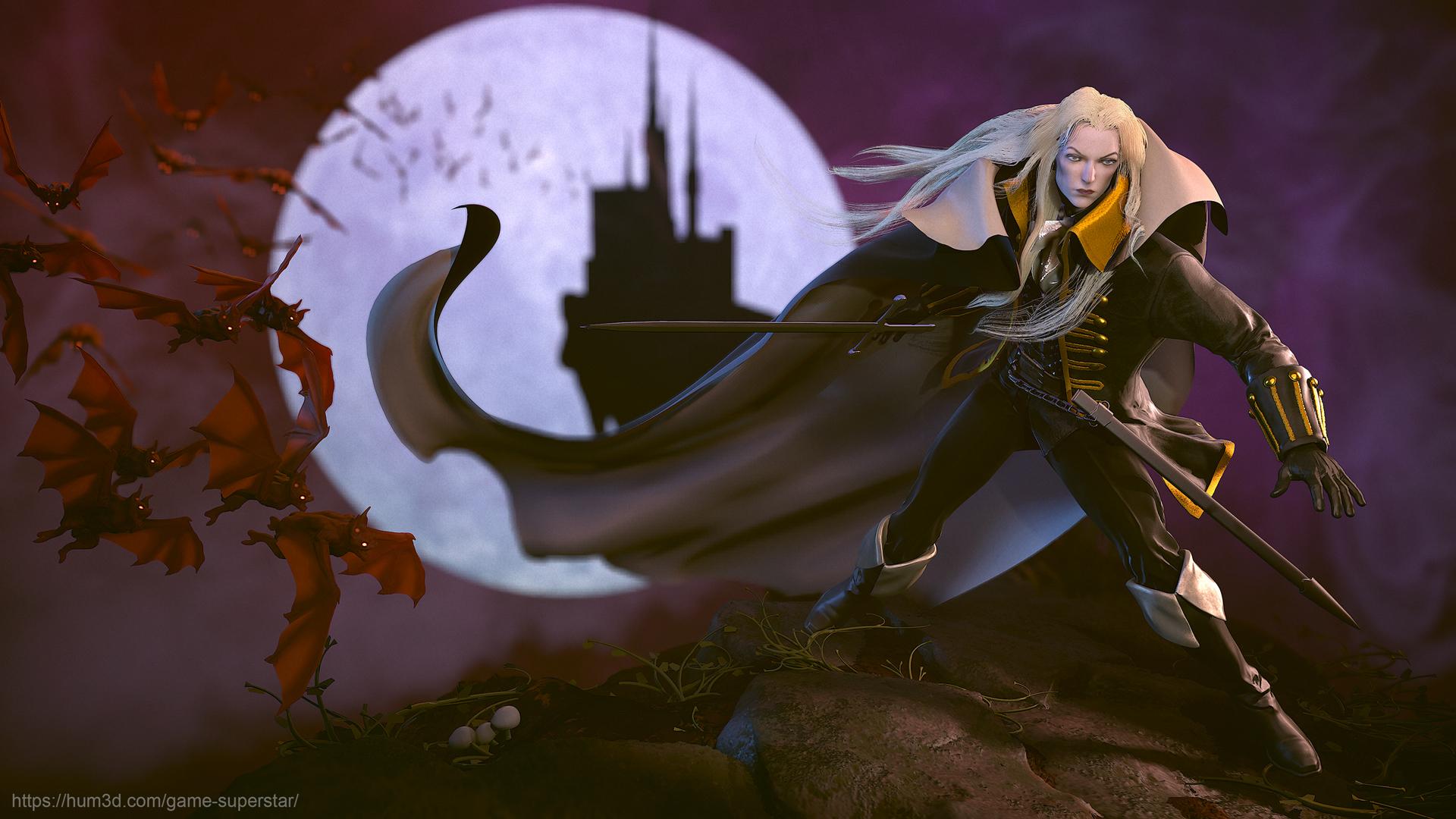 Castlevania Symphony of the Night: Alucard 3d art