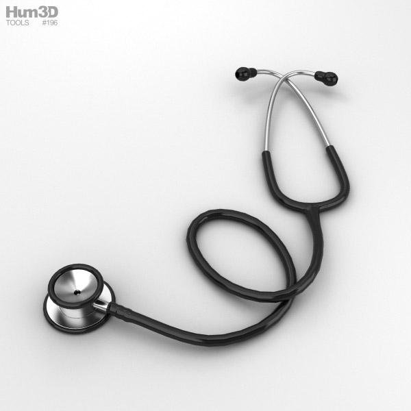 Stethoscope 3D model