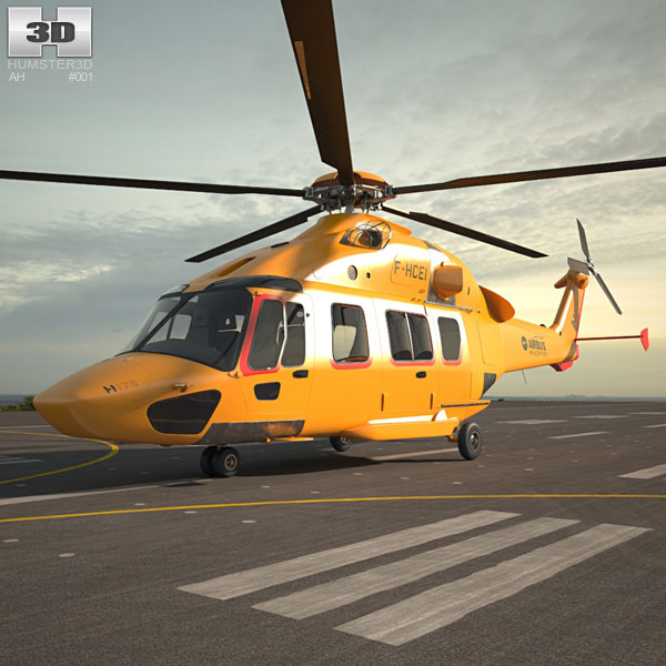 3D model of Airbus Helicopters H175
