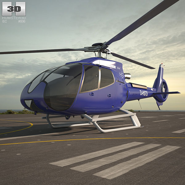 3D model of Eurocopter EC130