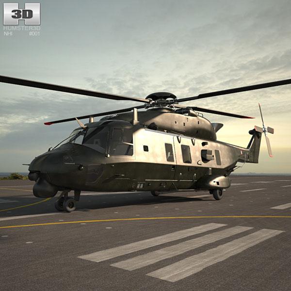 NHIndustries NH90 3Dモデル