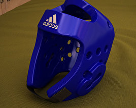 3D model of Adidas Taekwondo Head Gear