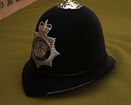 3D model of London Metropolitan Police Custodian Helmet