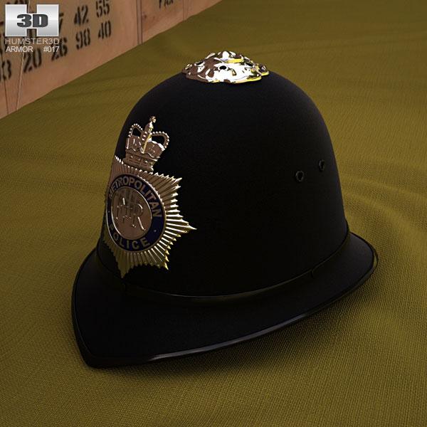 London Metropolitan Police Custodian Helmet 3D model
