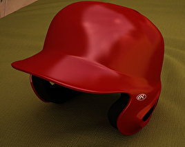 3D model of Baseball Batting Helmet