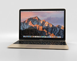 3D model of Apple MacBook (2017) Gold