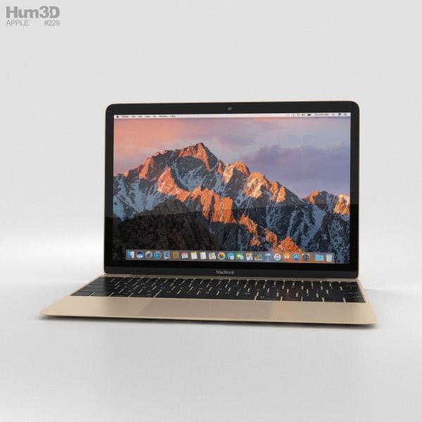 Apple MacBook (2017) Gold 3D model