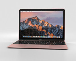 Apple MacBook (2017) Rose Gold 3D model