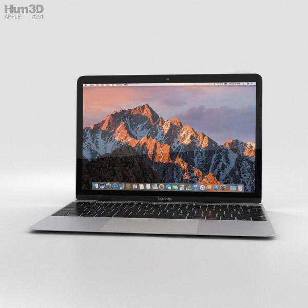 Apple MacBook (2017) Silver 3D model
