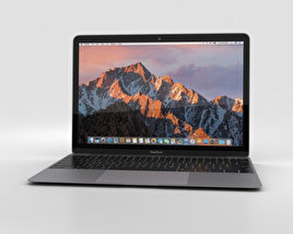 Apple MacBook (2017) Space Gray 3D model