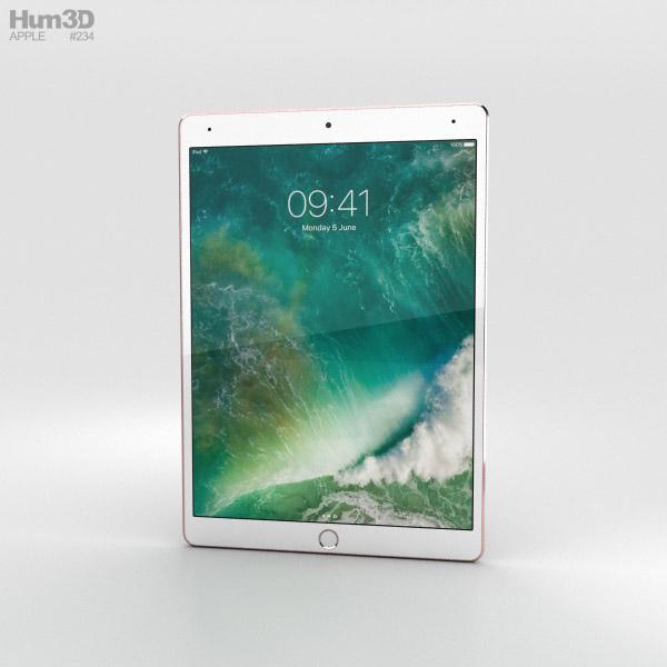 Apple iPad Pro 10.5-inch (2017) Cellular Rose Gold 3D model