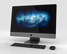 3D model of Apple iMac Pro