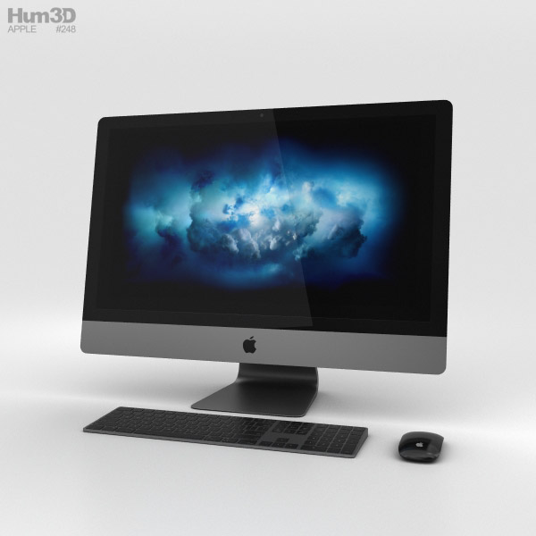 Apple iMac Pro 3D model