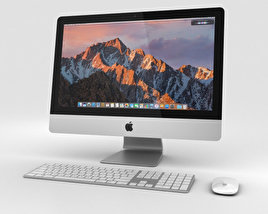 3D model of Apple iMac 21.5-inch (2017)