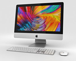 3D model of Apple iMac 21.5-inch (2017) Retina 4K