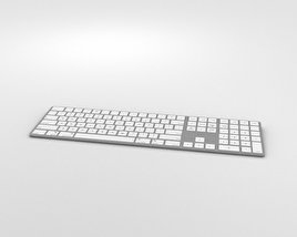 3D model of Apple Magic Keyboard with Numeric Keypad