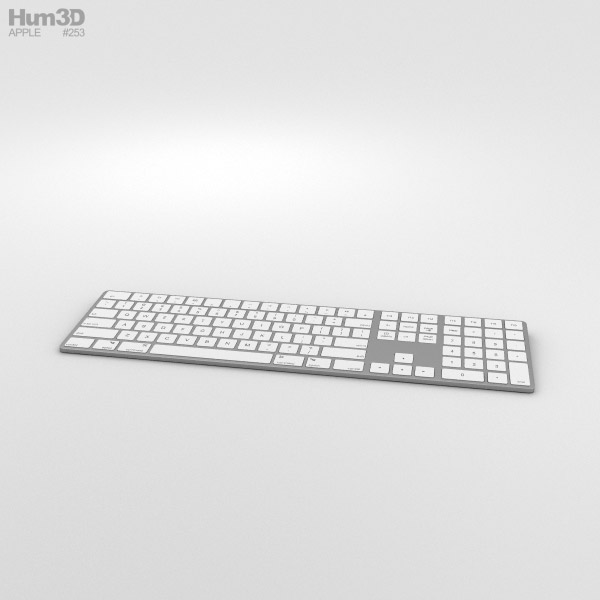 Apple Magic Keyboard with Numeric Keypad 3D model
