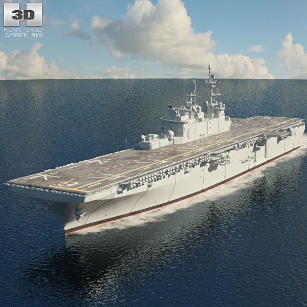 3D model of USS America (LHA-6) aircraft carrier