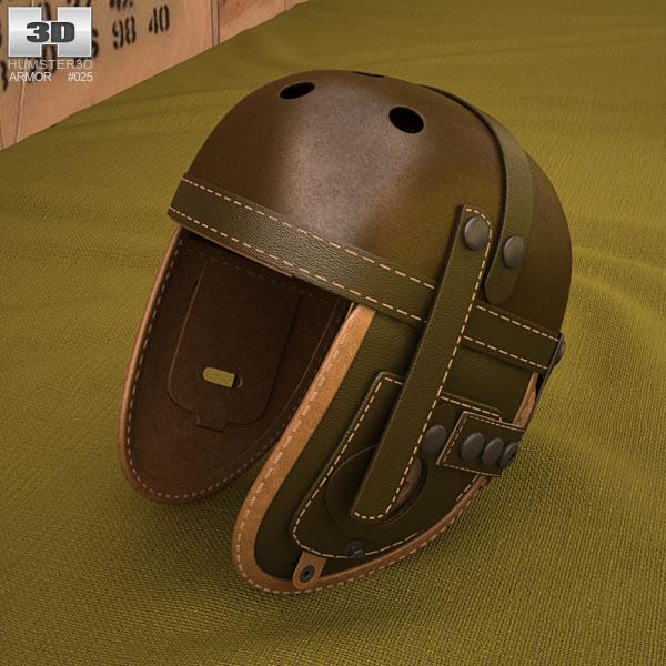 3D model of WW2 US M38 Tankers Helmet