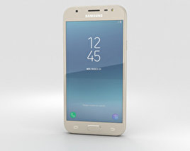 3D model of Samsung Galaxy J3 (2017) Gold
