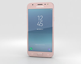 3D model of Samsung Galaxy J3 (2017) Pink