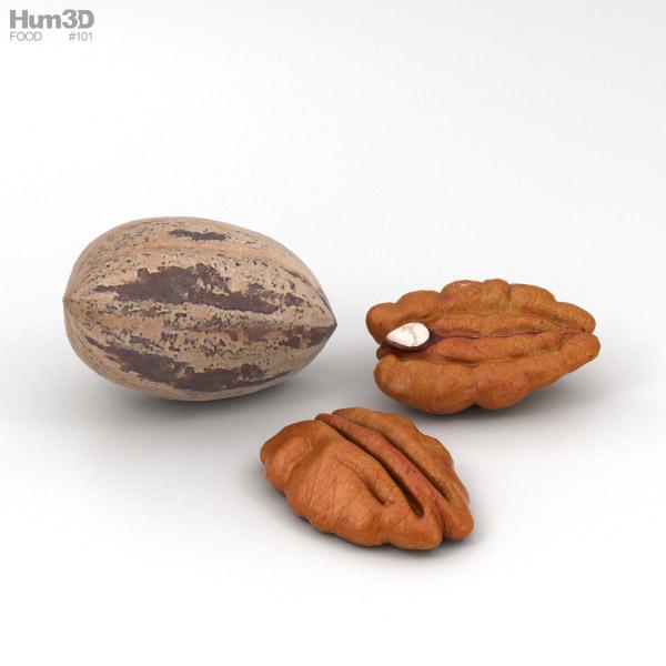 Pecan Nuts 3D model