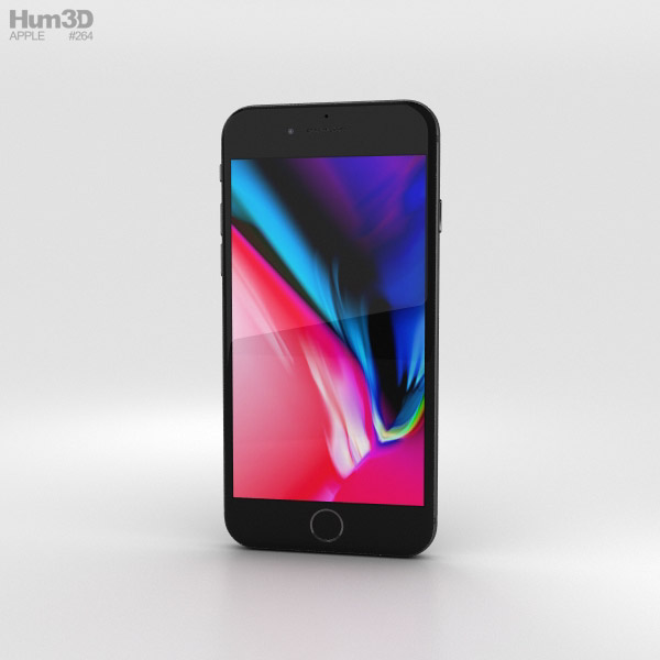 3D model of Apple iPhone 8 Space Gray