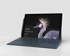 3D model of Microsoft Surface Pro (2017) Cobalt Blue