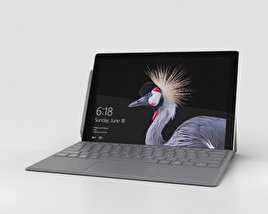 3D model of Microsoft Surface Pro (2017) Platinum