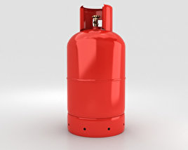 3D model of Gas Cylinder