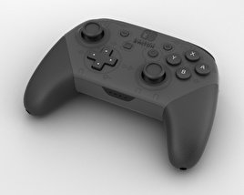 3D model of Nintendo Switch Pro Controller