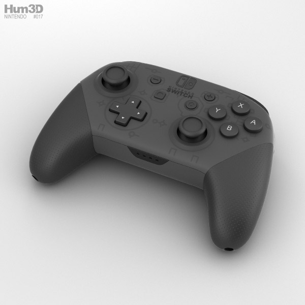 Nintendo Switch Pro Controller 3D model