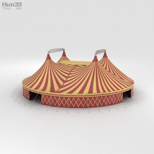 サーカステント 3Dモデル