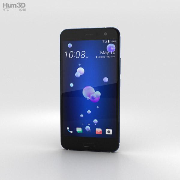 3D model of HTC U11 Sapphire Blue