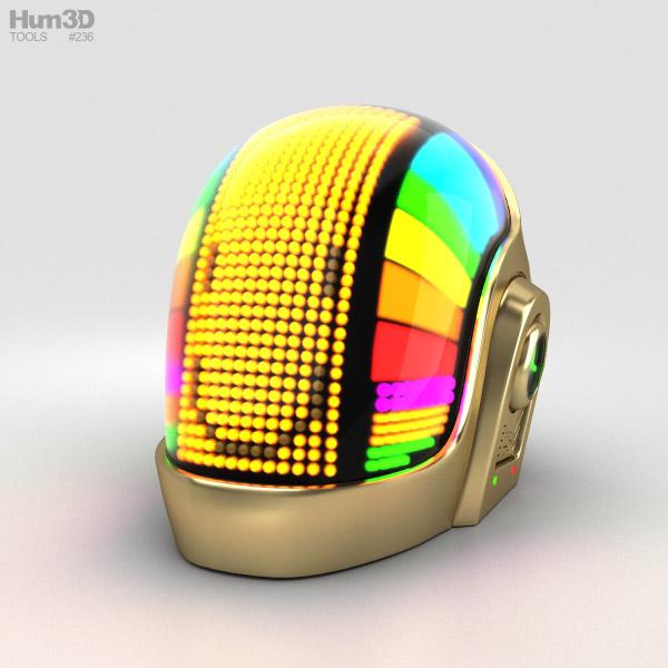 3D model of Daft Punk Volpin Helmet