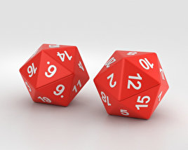 3D model of D20 Dices
