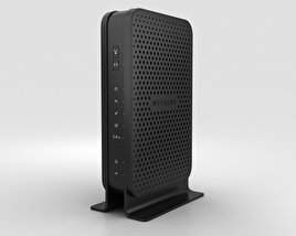 3D model of NetGear C3000 Wi-Fi Cable Modem Router