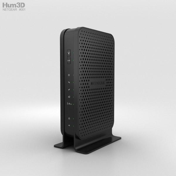 NetGear C3000 Wi-Fi Cable Modem Router 3D model