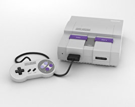 3D model of Nintendo SNES