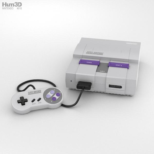 Nintendo SNES 3D model