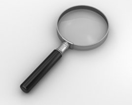 3D model of Magnifying Glass