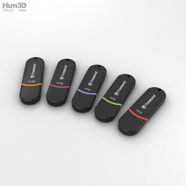 Transcend USB Flash Drive set 3D model