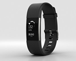 3D model of Fitbit Charge 2 Black