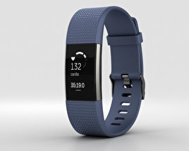 3D model of Fitbit Charge 2 Blue