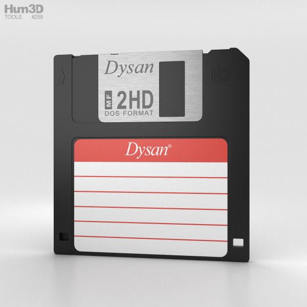 Floppy Disk 3.5 inch 3D model