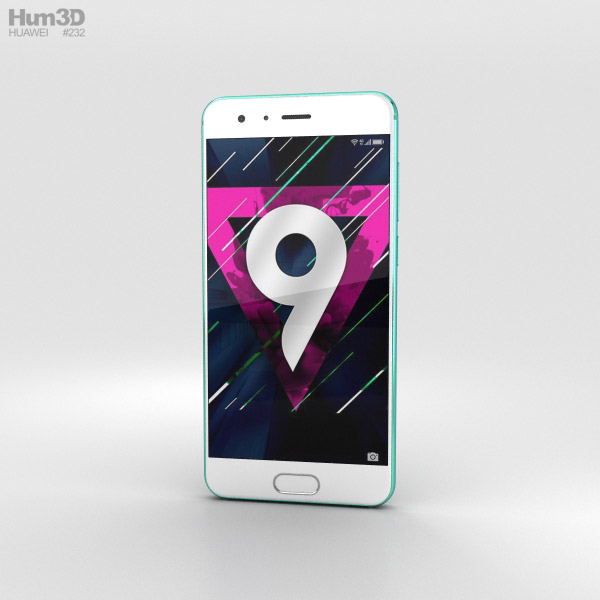 Huawei Honor 9 Blue Bird 3D model