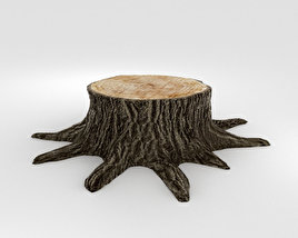 3D model of Tree Stump