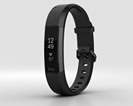 3D model of Fitbit Alta HR Black Gunmetal