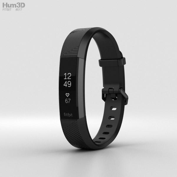 Fitbit Alta HR Black Gunmetal 3D model