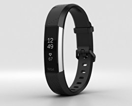 3D model of Fitbit Alta HR Black Stainless Steel